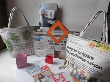 sacs en journaux